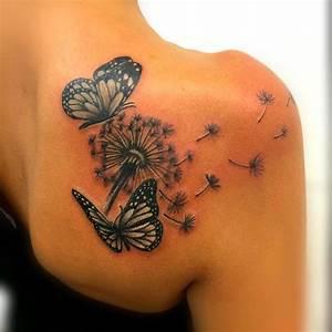 Tatouage Femme Epaule Discret : 1001 id es tatouage pissenlit un tattoo dans le vent ~ Melissatoandfro.com Idées de Décoration
