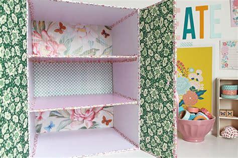 armadietto fai da te riciclo creativo la scatola di cartone diventa un