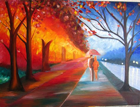most mural artists paintings of natur abstract on canvas for