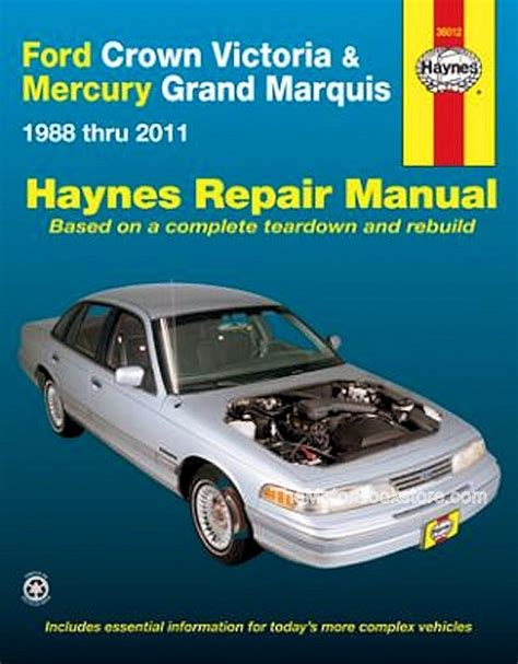 motor repair manual 1993 ford ltd crown victoria electronic toll collection crown victoria grand marquis repair manual 1988 2011 haynes 36012