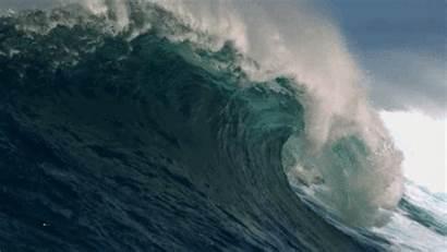 Tsunami Waves Japanese Crashing Visual Ecology Seem