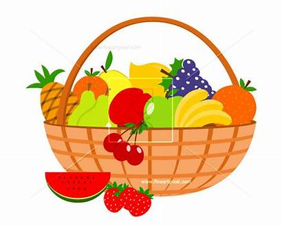Basket Fruit Clipart Graphics Library Svg Vectors