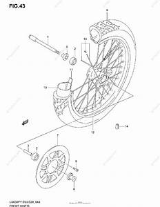 Suzuki Motorcycle 2004 Oem Parts Diagram For Front Wheel