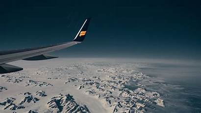 Wing Flight Aircraft Aerial 4k Snow Background