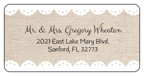 wedding return address labels template costumepartyrun