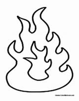 Flames Fire Coloring Pages Flame Printable Template Fireplace Drawings Colouring Pit Torch Electric Cartoon Designlooter Fjord 21kb 175px Truck Via sketch template