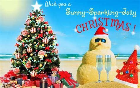 sunny sparkling jolly christmas  summer ecards