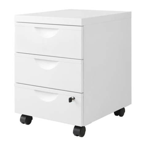 caisson de bureau ikea erik caisson 3 tiroirs sur roulettes blanc ikea