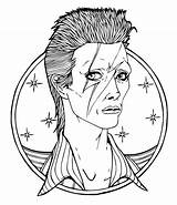 Coloring Pages Bowie Rock David Star Prince Singer Printable Artist Drawing Coloriage Colouring British Adults Famous Imprimer Austin Drawings Dessin sketch template