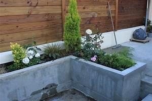 Bac A Fleur Muret : soucis d 39 tanch it a l int rieur d une jardini re b ton ~ Teatrodelosmanantiales.com Idées de Décoration
