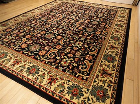 Black Traditional Rug Large 8x11 Area Rugs Black Persian