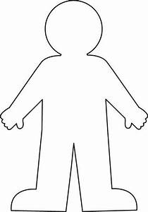 Worksheet with a blank body outline google search for Person template preschool