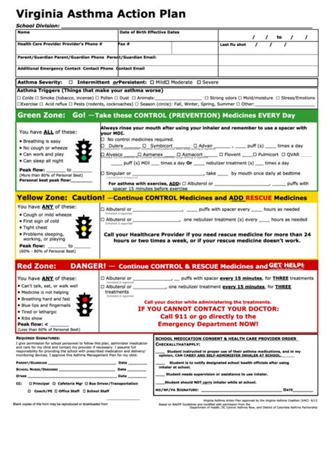 forms of asthma top 33 asthma action plan form templates free to download