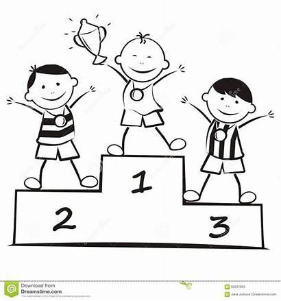 Podium Sieger Podio Sul Winners Coloring Vincitori