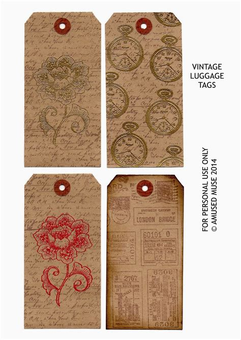 Printable Luggage Tags Images 5 Best Images Of Vintage Luggage Tags Printable Vintage
