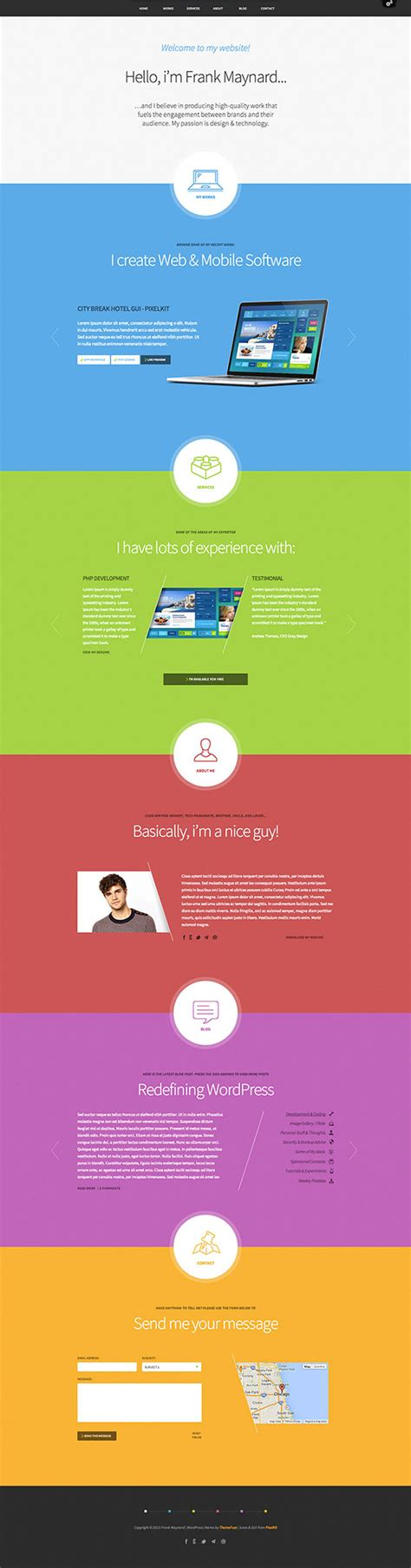 One Page Theme 30 Best One Page Themes 2015
