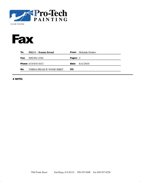 5 fax cover sle teknoswitch