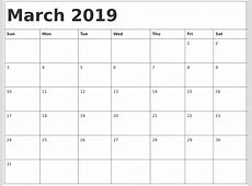 March 2019 Calendar Word – printable calendar templates