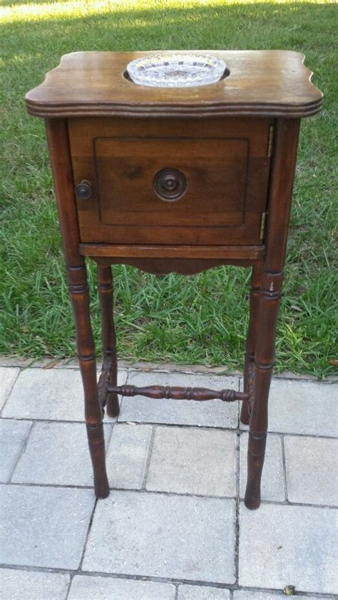 antique humidor cabinet for sale wood smoking stand table cabinet humidor ashtray vintage