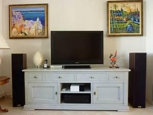 Meuble Tv Haut : meuble tv haut bois solutions pour la d coration int rieure de votre maison ~ Teatrodelosmanantiales.com Idées de Décoration