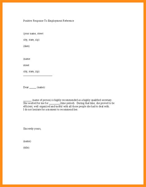 template letter employment reference letter sle template printable