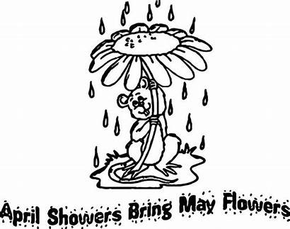 Coloring April Showers Flowers Bring Printable Mario