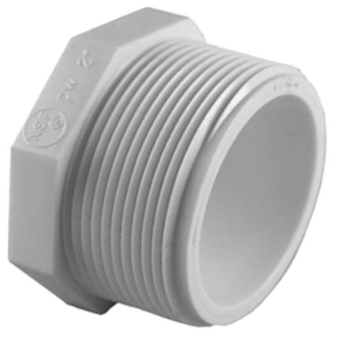 kitchen to garden hose adapter charlotte pipe 3 4 in pvc sch 40 plug pvc 02113 0800hd