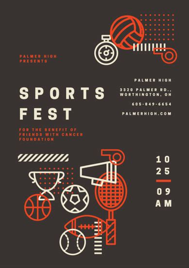 sports poster templates canva