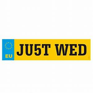 JU5T WED Wedding Number Plate The Wedding Of My Dreams