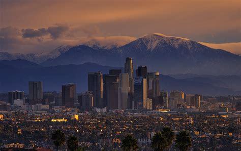 wallpaper california mountains city los angeles usa