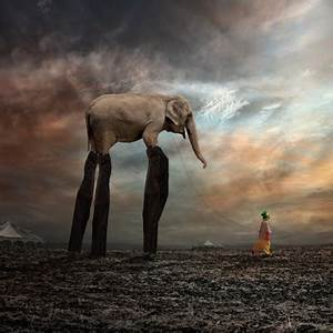 Elephant and little girl by caras ıonut ART TWO