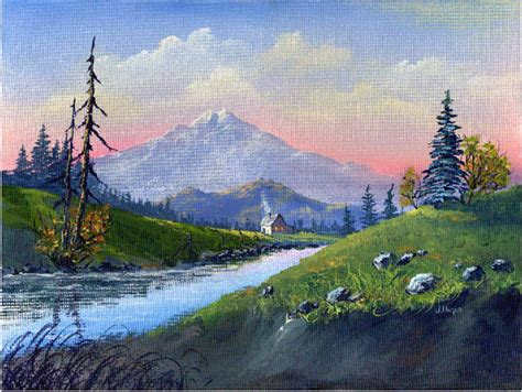 Mountain Scene-acrylic Painting By Jen Unger Taught By