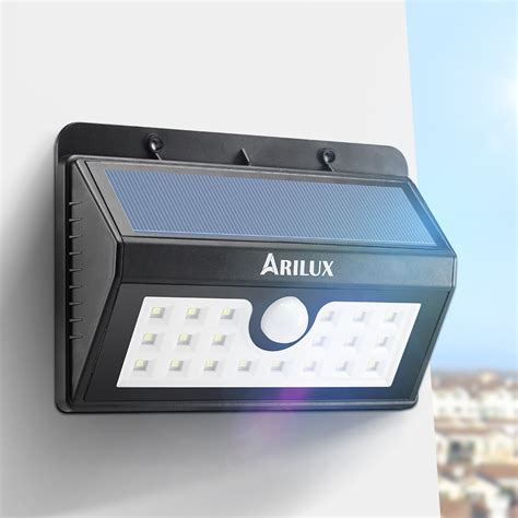 arilux al sl02 wireless solar powered 20 led waterproof