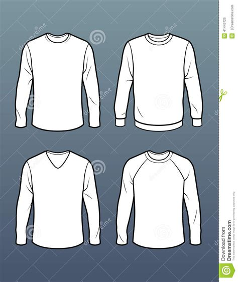 Designing A Sleeve Template by Set Of 4 Sleeve T Shirt Templates Stock Illustration