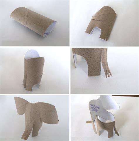 comment faire un elephant en diy avec les enfants rouleau papier