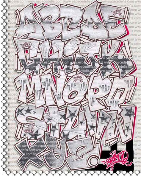 abecedario en graffitis chidos con sombra imagui