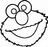 Coloring Elmo Face Sesame Street Rocks Wecoloringpage sketch template