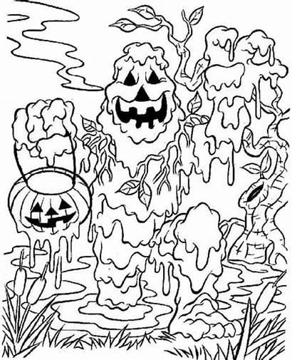 Halloween Coloring Monster Spooky Ausmalen Zum Printable