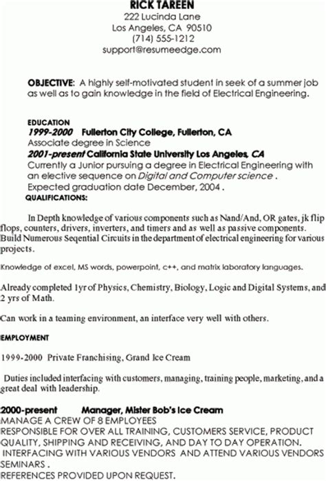 sle resume for summer internship india frizzigame