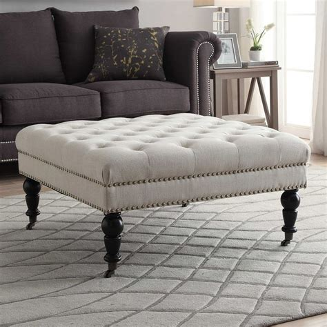 Prop your feet up, decorate it, use it as additional seating, or use it to. 12 Large Square Ottoman Coffee Table Ideas