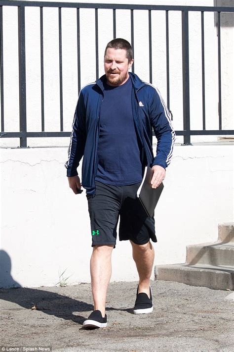 Christian Bale Shows Off Slimmer Figure For Meeting
