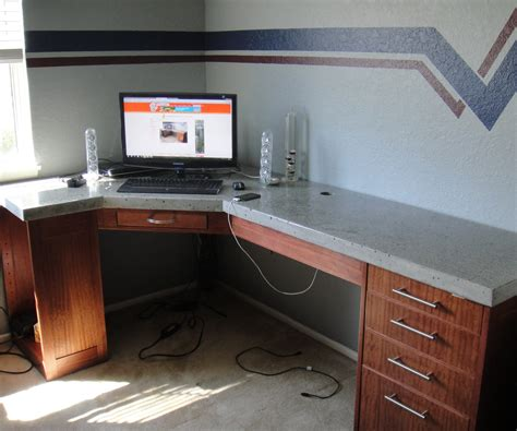 countertop desk for office how to build a polished concrete desk 9 steps with pictures