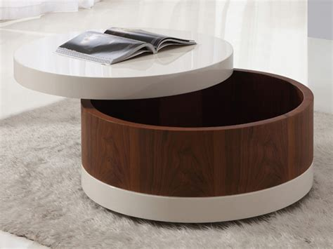 This table features clean, simple, unobstructed lines. The Round Coffee Tables with Storage - the Simple and Compact Furniture that Looks Adorable ...