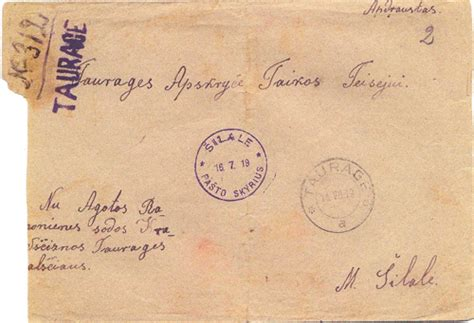 taurage   lithuanian philately