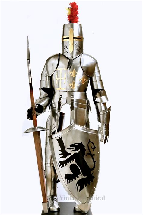 armour medieval knight full body steel alloy vintage