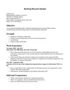 resume for college interview sle sle resume for a teller at the bank