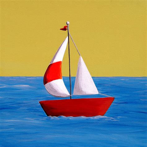 Pictures Of Sailboats by Lil Sailboat Painting By Thornton