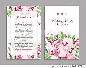 wedding card template floral design stock illustration With wedding invitation templates commercial use