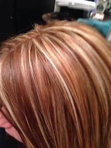 Red blonde and brown hair. Highlights, blonde and brown ...