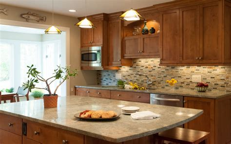 backsplash kitchen designs warm and cozy kitchen with open plan living room